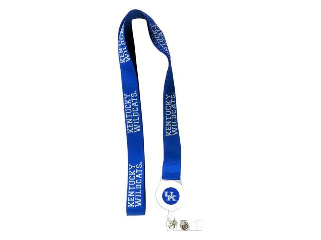 NCAA Kentucky Wildcats Team Logo Badge Reel Lanyard Id Ticket Clip Holder