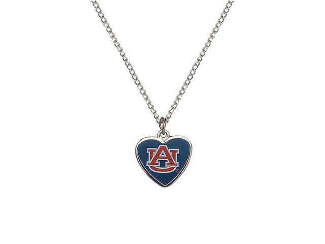 NCAA Auburn Tigers Team Logo Heart Shaped Pendant Necklace Charm Gift