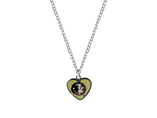 NCAA Florida State Team Logo Heart Shaped Pendant Necklace Charm Gift