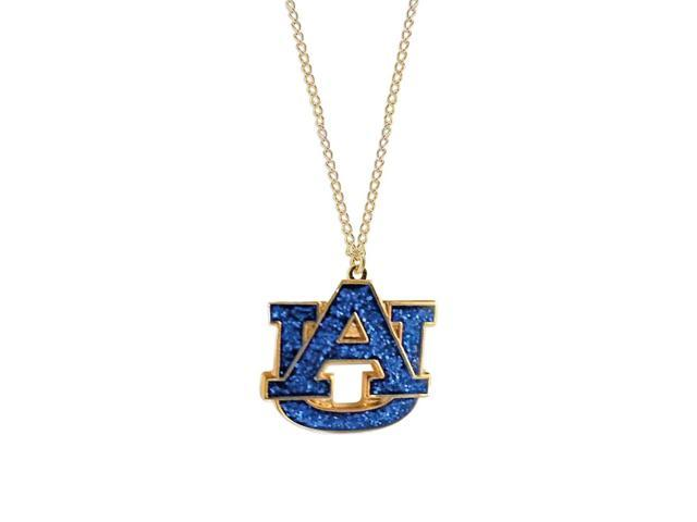 NCAA Auburn Tigers Team Logo Glitter Chain Necklace Charm Gift