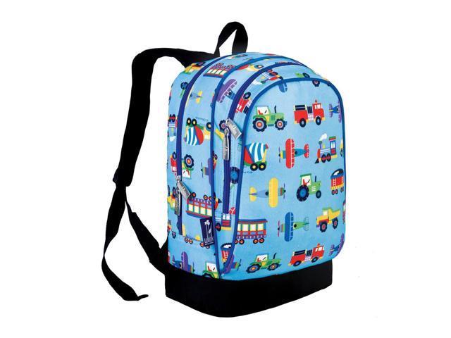 Wildkin Children Kids Outdoor Travel School Bags Trains,Planes & Trucks Sidekick Backpack Blue