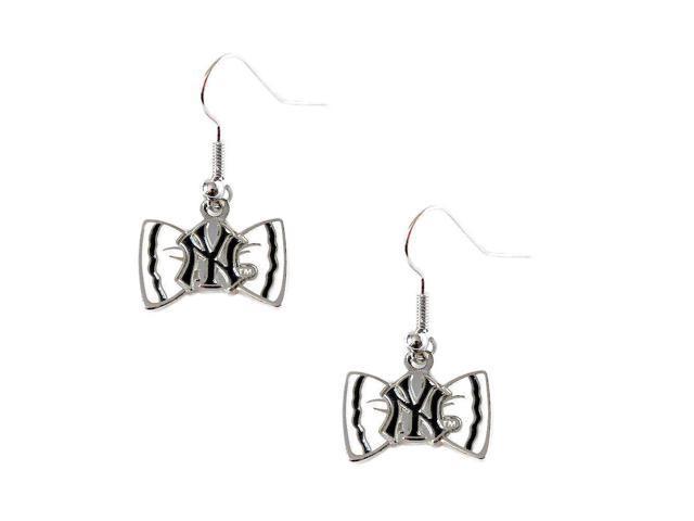 New York Yankees Tem Logo Bow Tie Earring Charm Gift Set