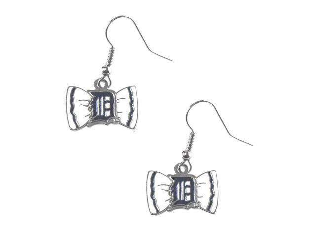Detroit Tigers Team Logo Bow Tie Earring Charm Gift Set