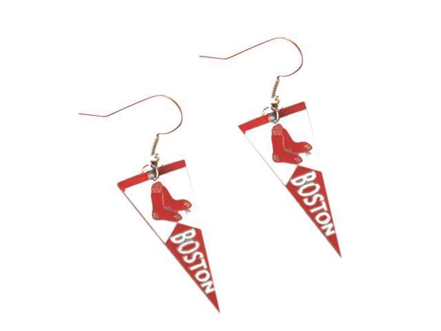 MLB Boston Red Sox Team Logo Pennant Dangle Earring Charm Gift