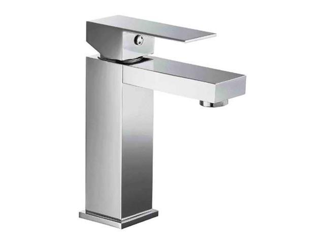 ALFI Brand AB1229 Polished Chrome Square Single Lever Bathroom Faucet
