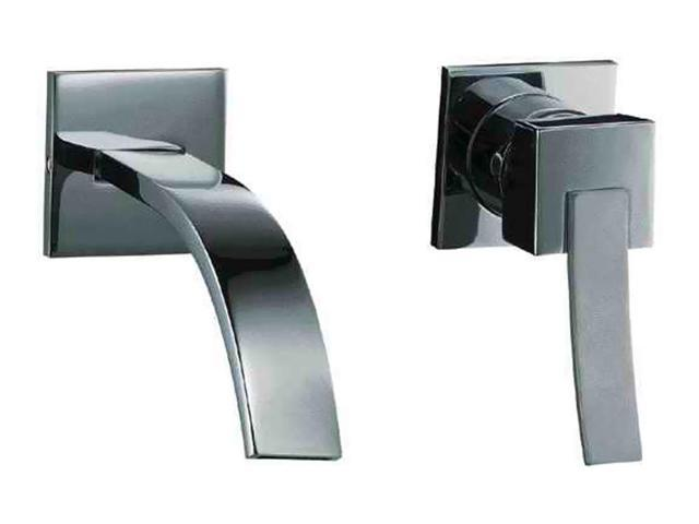 ALFI Brand AB1256 Brushed Nickel Single Lever Wallmount Bathroom Faucet
