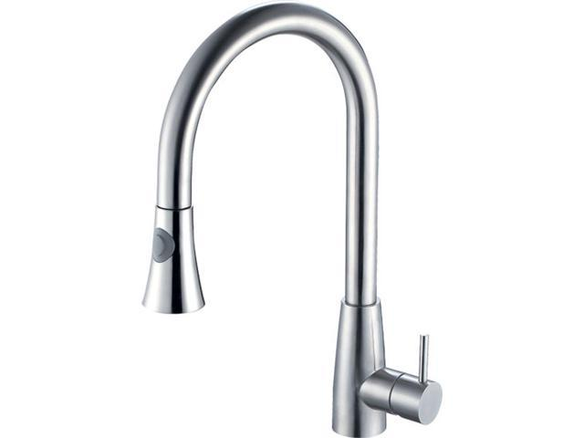 ALFI Brand Solid Brushed Stainless Steel - AB2034-BSS  Pull Down Single Hole Kitchen Faucet
