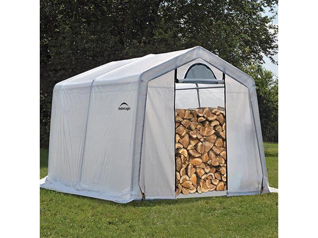 ShelterLogic 10 x 10 x 8 Seasoning Shed; 5.5oz Clear PE Cover