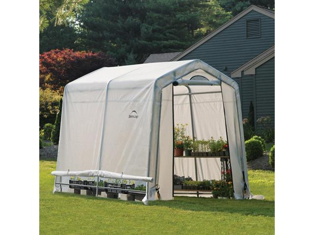 6x8x6ft.,6in. /1,8x2,4x2m (3)Rib Peak Style Grow It Greenhouse Translucent Cover