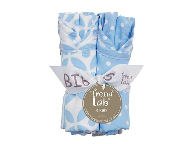 Trend Lab Nursery Kids Baby Products Bouquet 4 Pack Bib - Logan