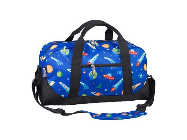 Kids outdoor Camping Travel Picnic Tote Out of This World Duffel Bag Blue