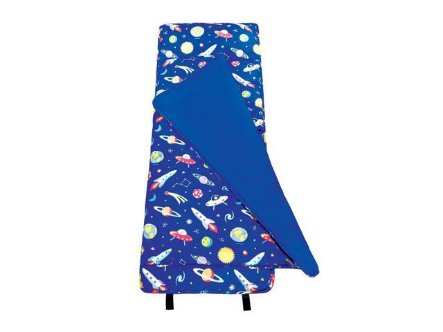 Wildkin Kids Home Camping Hiking Sleep Bag Out of This World Nap Mat Blue