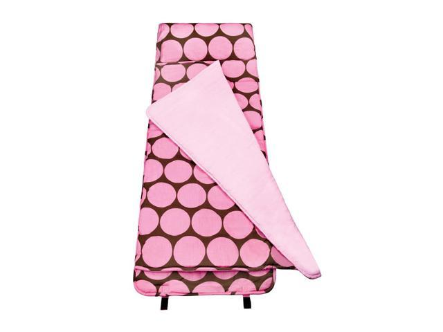 Wildkin Kids Children Home Camping Hiking Sleep Bag Big Dot Pink Nap Mat Pink