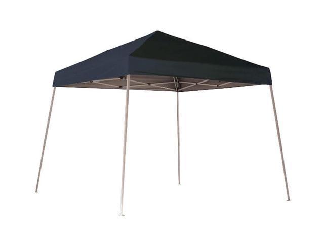 ShelterLogic Outdoor Sun Shade 10x10 SL Pop-up Canopy Black Cover Black Roller Bag