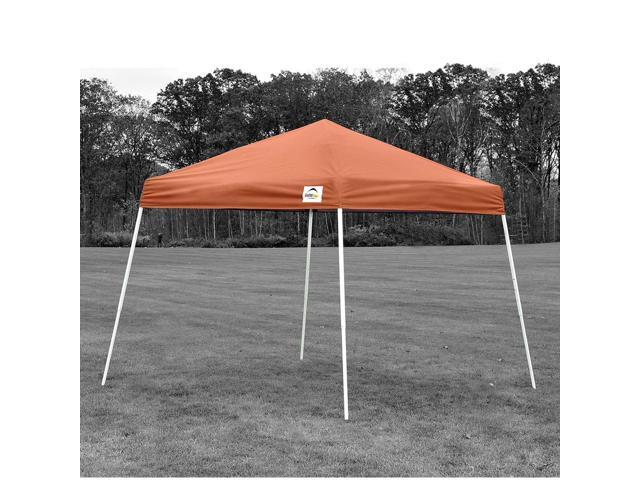 ShelterLogic Outdoor Sun Shade 8x8 SL Pop-up Canopy Terracotta Cover Black Bag