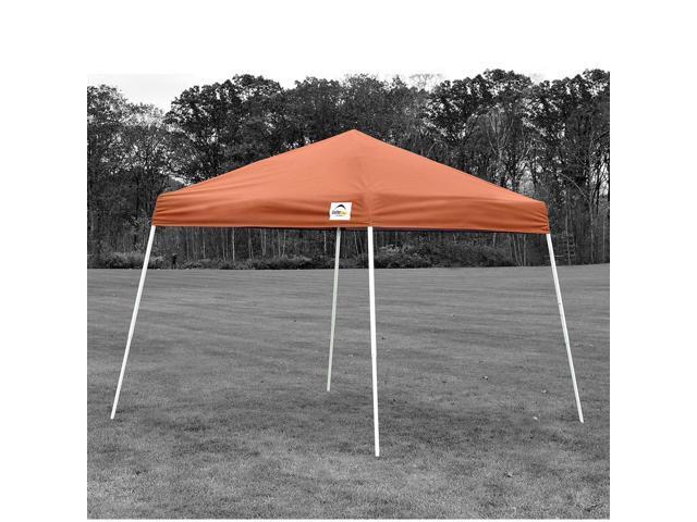 ShelterLogic Outdoor Sun Shade 8x8 SL Pop-up Canopy Terracotta Cover Black Bag