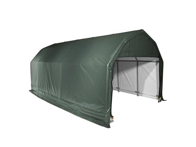 Shelterlogic Outdoor Garage Automotive Boat Car Vehicle Storage Shed 12x28x9 Barn Shelter Green Cover