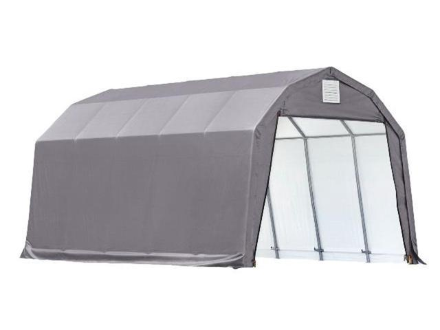 Shelterlogic Outdoor Garage Automotive Boat Car Vehicle Storage Shed 12x20x11 Barn Shelter Grey Cover