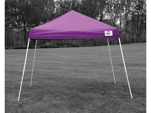 Shelter Logic Outdoor Party Patio Lawn Garden Sun Shade 8x8 SL Pop-up Canopy Purple Cover Carry Bag