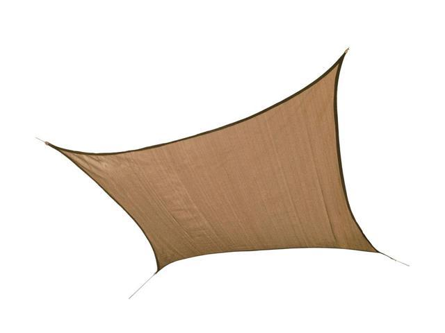 Shelter Logic Outdoor Party Patio Lawn Garden Sun Shade 12 ft. / 3,7 m Square Shade Sail Sand 230 gsm