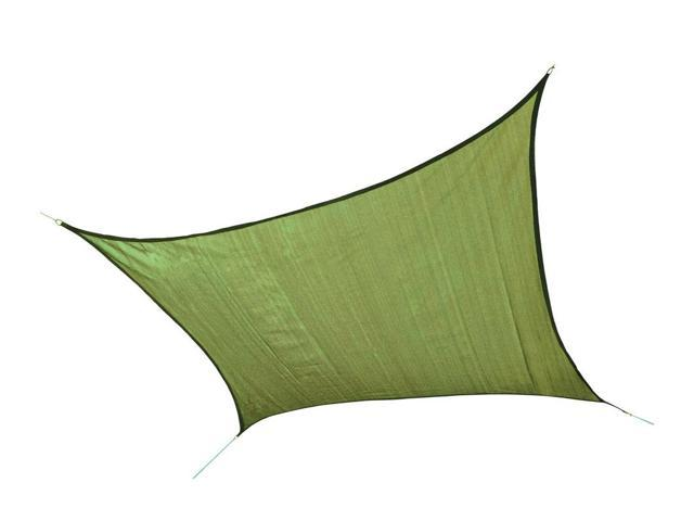 Shelter Logic Outdoor Party Patio Lawn Garden Sun Shade 12 ft. / 3,7 m Square Shade Sail Lime Green 230 gsm