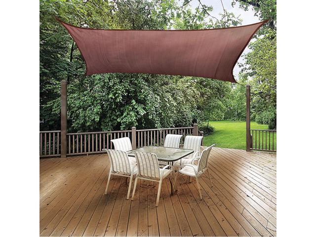 Shelter Logic Outdoor Party Patio Lawn Garden Sun Shade 12 ft. / 3,7 m Square Shade Sail Terracotta 230 gsm