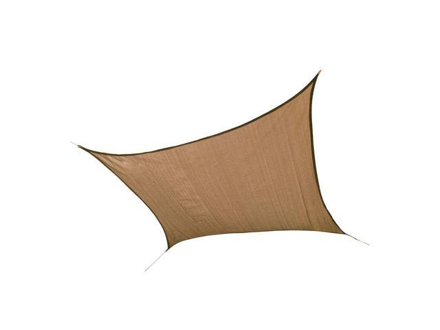 Shelter Logic Outdoor Party Patio Lawn Garden Sun Shade 16 ft. / 4,9 m Square Shade Sail Sand 230 gsm