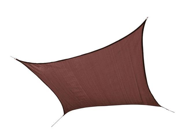 Shelter Logic Outdoor Party Patio Lawn Garden Sun Shade 16 ft. / 4,9 m Square Shade Sail Terracotta 230 gsm
