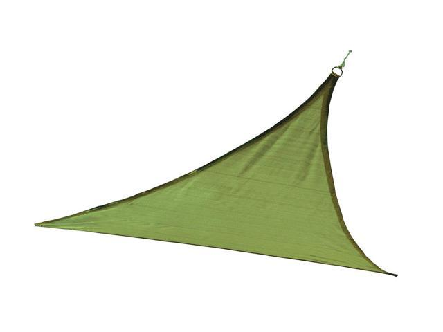 Shelter Logic Outdoor Party Patio Lawn Garden Sun Shade 12 ft. / 3,7 m Triangle Shade Sail Lime Green 230 gsm
