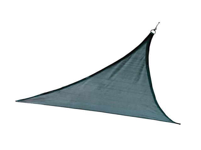Shelter Logic Outdoor Party Patio Lawn Garden Sun Shade 12 ft. / 3,7 m Triangle Shade Sail Sea 230 gsm