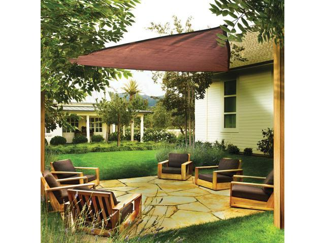 Shelter Logic Outdoor Party Patio Lawn Garden Sun Shade 16 ft. / 4,9 m Triangle Shade Sail Terracotta 230 gsm