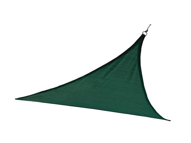 Shelter Logic Outdoor Party Patio Lawn Garden Sun Shade 16 ft. / 4,9 m Triangle Shade Sail Evergreen 230 gsm