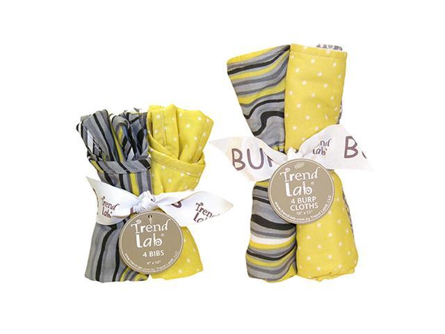 Trend-Lab Bouquet Set Stylish Hello Sunshine Bib & Burp Cloth Set