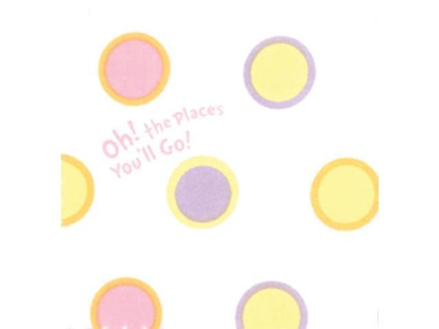 Trend Lab Infant Nursery Crib Sheet - Dr. Seuss Pink Oh The Places You'Ll Go