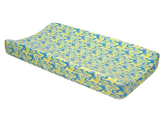 Trend Lab Nursery Changing Pad Cover - Dr. Seuss Blue Oh, The Places You'Ll Go