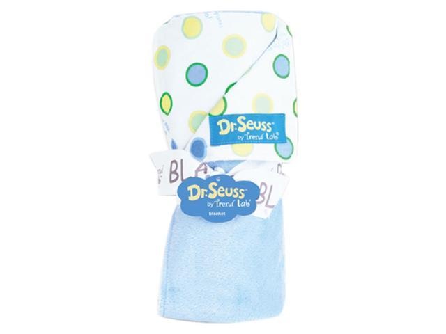 Trend Lab Receiving Blanket - Dr. Seuss Blue Oh The Places You'Ll Go Dot
