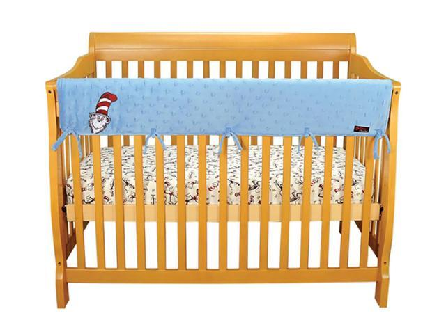 Trend Cribwrap Wide Rail Cover  Long Blue Star Velour Dr. Seuss Cat In The Hat