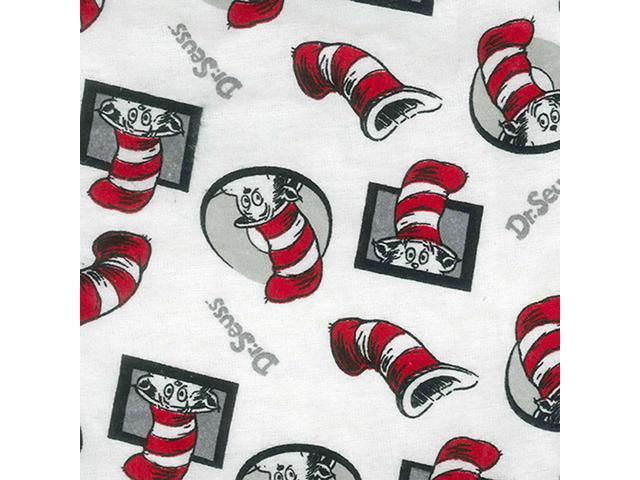 Trend Lab Home Indoor Baby Crib Sheet - Dr. Seuss Cat In The Hat Flannel