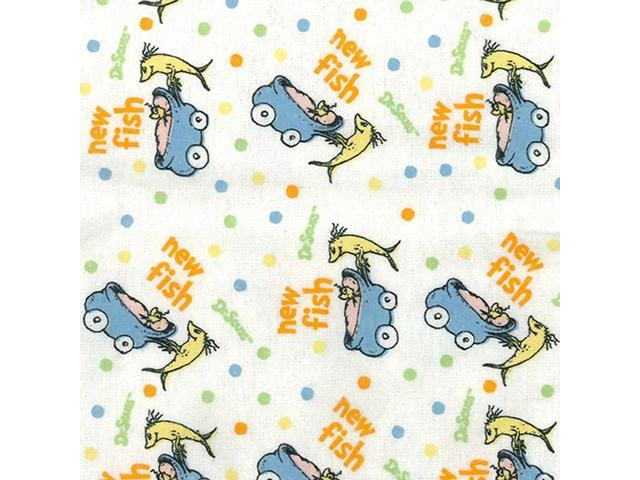 Trend Lab Home Indoor Baby Crib Sheet - Dr. Seuss One Fish Two Fish Flannel