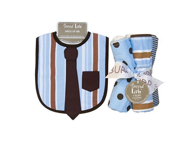 Trend Lab Max Kids Baby Gift Decorative Accessories Dress Up  Bib And Burp Cloth Set