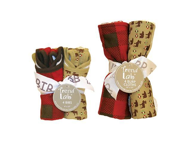 Trend-Lab Bouquet Set Stylish Northwoods Bib & Burp Cloth