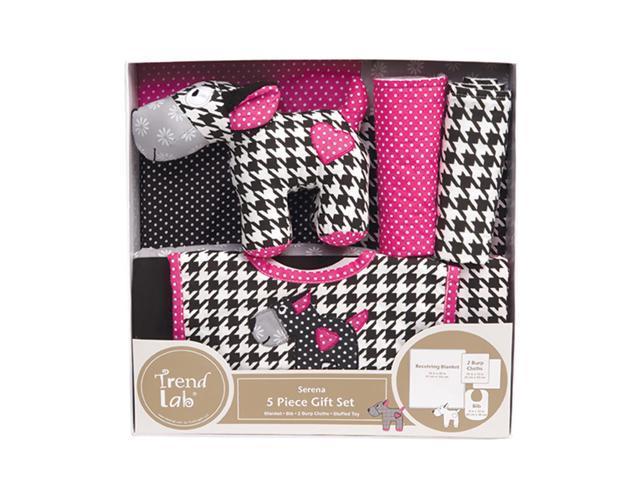 Trend Lab Kids Infant Newborn Baby Shower Kit 5 Piece Gift Set - Serena