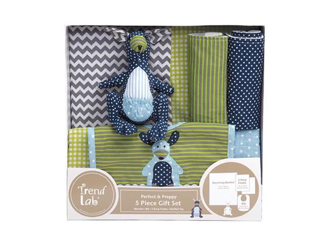 Trend Lab Kids Infant Newborn Shower Kit 5 Piece Gift Set - Perfectly Preppy