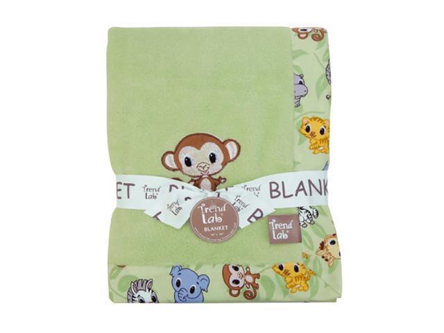 Trend Lab Kids Receiving Blanket - Framed Chibi Zoo