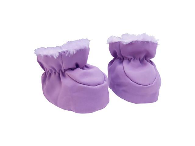 Trend Lab Kids Baby Booties - Plum And Lilac Swirl Velour And Matte Satin