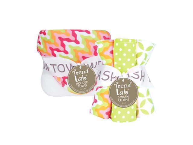 Trend-Lab Bouquet Set - Savannah - Hooded Towel & Wash Cloth