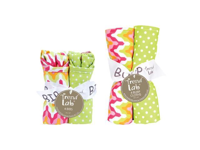 Trend-Lab Bouquet Set - Savannah - Bib & Burp Cloth