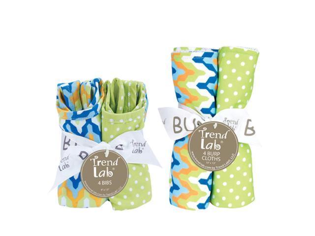 Trend-Lab Bouquet Set - Levi - Bib & Burp Cloth