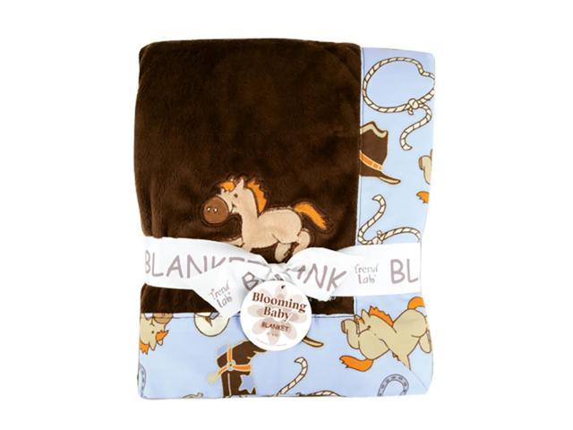 Trend Lab Framed Cowboy Baby Receiving Blanket