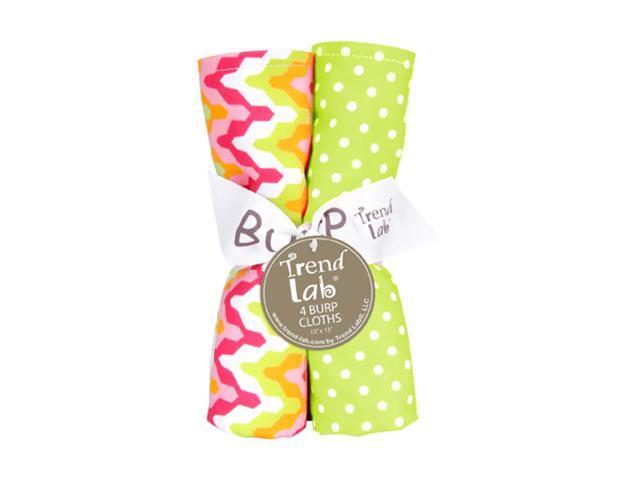 Trend Lab Kids Infant Bouquet 4 Pack Burp - Savannah